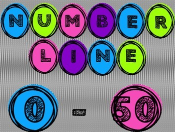 FREE! Number Line Bubbles 0-50