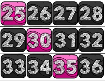 Number Line Bulletin Board with Pink Accents