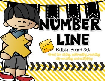 Number Line Bulletin Board with Yellow Accents