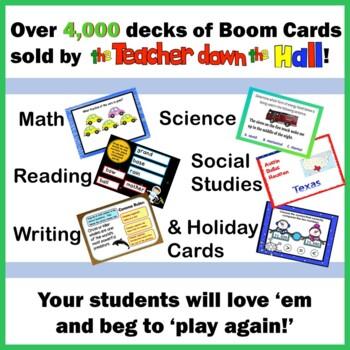 BOOM Cards Number Line BUNDLE Whole Numbers Fractions Decimals