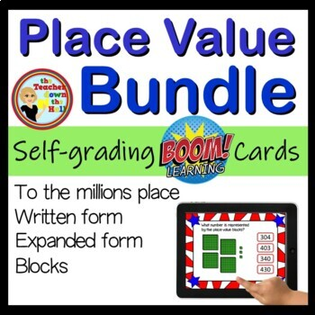 Place Value Bundle BOOM Cards - 96 Self-checking cards!
