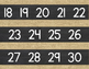 Number Line {Burlap and Chalkboard}