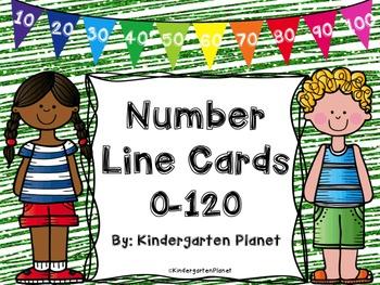 Number Line Cards 0-120