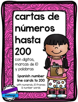 Number Line Cards [Spanish]