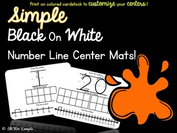 Number Line Center Mats!