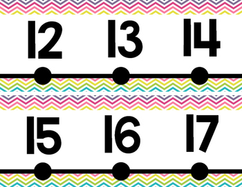 Number Line {Chevron Style}