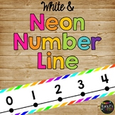 Number Line Classroom Decor Bright Neon and White {-100 to 250}