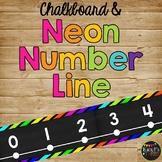 Number Line Classroom Decor, Chalkboard & Neon Black {-100 to 250}
