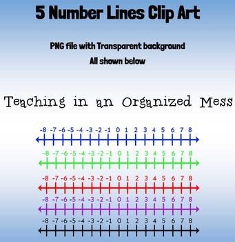 Number Line Clip Art