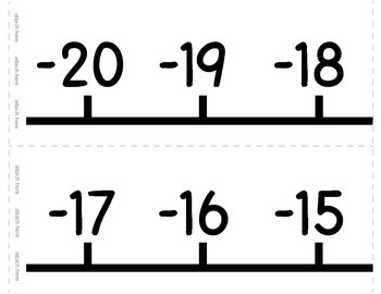 Number Line (Color / BW) and Number Cards