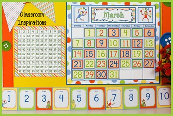 Number Line - Coordinates with Sock Monkey Classroom Theme