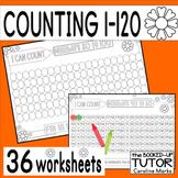 {Number order 1-120} {numbers sense worksheets} {counting 1-120}
