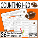 {Numbers 1-120} {counting 1-120} {sport themed worksheets}