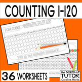 Number order (counting to 120} worksheets