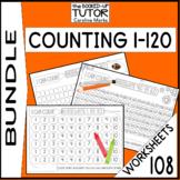 Counting 1-100 BUNDLE 93 worksheets Test Prep Practice