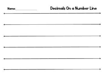 Number Line - Decimals