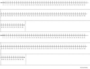 Number Line: Desktop 0-100