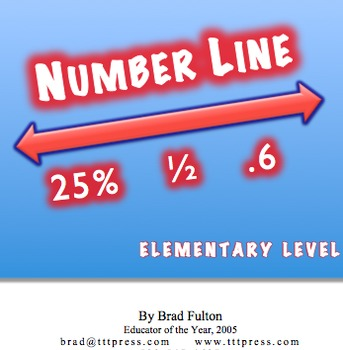 Number Line: Elementary Level - Fractions, Decimals, Pecent