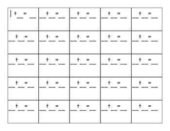 Number Line Dice Scoot