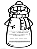 Number Line Differentiated Snowman