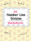 Number Line Division Worksheets
