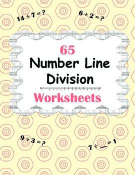 Number Line Division Worksheets