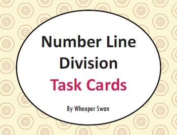 Number Line Division Task Cards