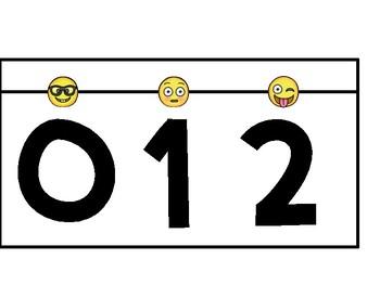 Number Line - Emoji Theme