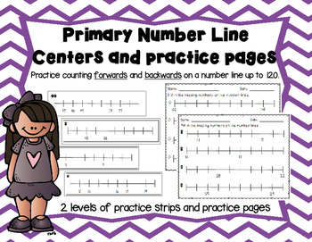 Primary Number Line Center and Practice pages