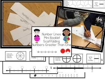 Number Line Fractions Mini Book for Scaffolding