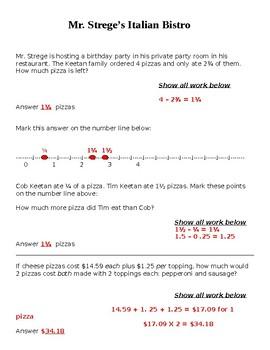 Number Line, Fractions, Money, Decimals, Test Prep
