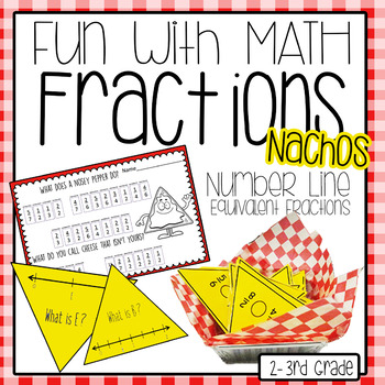 Number Line Fractions Nachos , Equivalent Fractions Math Centers