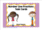 Number Line Fractions Task Cards