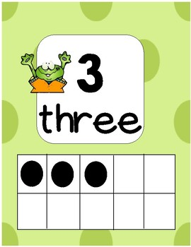 Number Line Frog Themed
