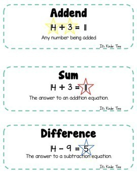 Number Line Fun - Addition, Subtraction - Kindergarten and First Grade