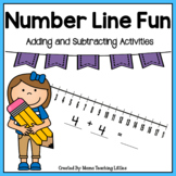 Number Line Fun - Addition, Subtraction - Kindergarten and