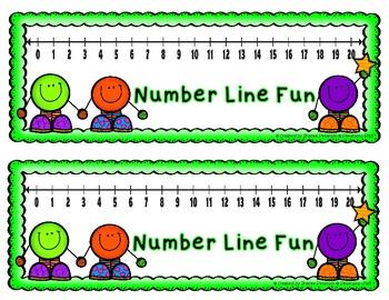 Number Line Fun FREEBIE