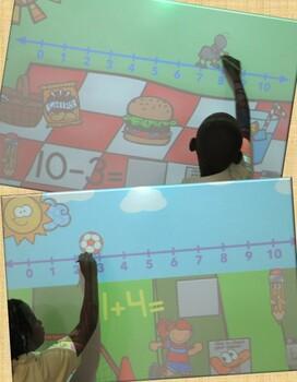 Number Line Fun Promethean Board Flip Chart