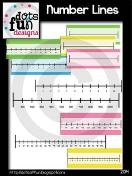 Number Line Graphics ~Dots of Fun Designs~