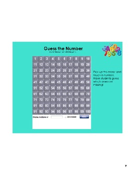 Number Line & Hundreds Chart