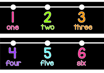 Number Line (Includes Word Form)