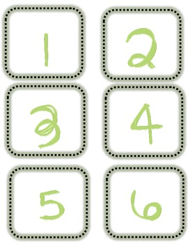 Number Line Labels for Floor