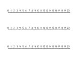 Number Line Manipulative 1-20