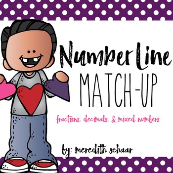 Number Line Match-Up (Decimals, Fractions, and Mixed Numbers)