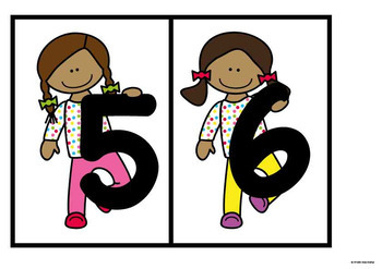 Number Line - Math Center Game for Early Number Order