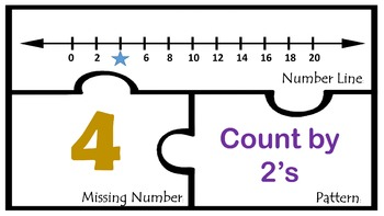Number Line Math Centers work Station Skip Counting