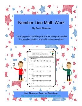Number Line Math Work