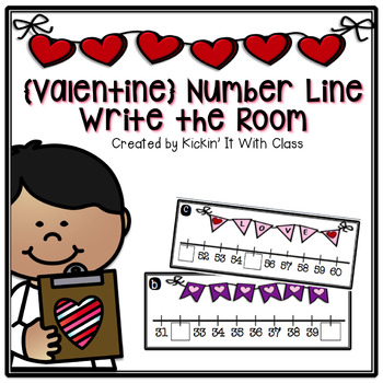 Number Line Missing Number Write the Room Activity