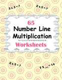 Number Line Multiplication Worksheets