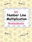 Number Line Multiplication Worksheets